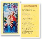 Consecration To The Immaculate Heart of Mary Laminated Prayer Cards 25 Pack