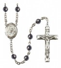 Men's St. Robert Bellarmine Silver Plated Rosary