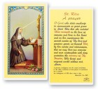 Prayer To St. Rita Laminated Prayer Cards 25 Pack