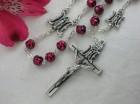 Ghirelli Pearled Red Glass Rosary