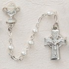 Girl's Irish First Communion Rosary in Sterling Silver