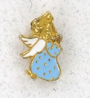 Praying Angel Blue Lapel Pin (12 pieces per order)