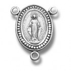Sterling Silver Miraculous Rosary Centerpiece