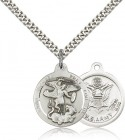Men's Round St. Michael the Archangel Army Medal