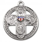Patriotic Four-Way Medal Sterling Silver