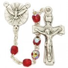 Red Crystal Confirmation Rosary
