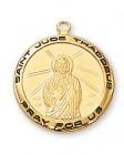 St. Jude Medal Gold Plated Sterling Silver