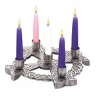 Advent Wreath Pewter Finish Celtic Knot