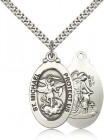 Oval Double-sided St. Michael Guardian Medal