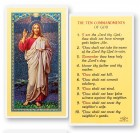 The Ten Commandments Laminated Prayer Cards 25 Pack