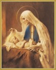 Madonna & Child Gold Framed Print