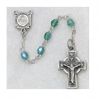 Green Aurora Borealis Irish Rosary