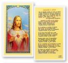Sagrado Corazon De Jesus Laminated Spanish Prayer Cards 25 Pack