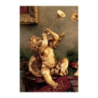 Boy Trumpeting Angel Statue