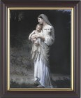 Madonna and Child with Baby Lamb Framed Print