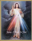 Divine Mercy Gold Framed Print