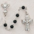 Irish First Communion Chalice Rosary - Sterling Silver