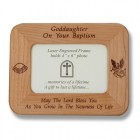 Maple Wood Goddaughter Baptism Photo Frame