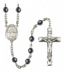 Men's St. Isidore the Farmer Silver Plated Rosary