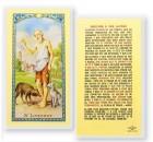 Oracion A San Lazaro Laminated Spanish Prayer Cards 25 Pack
