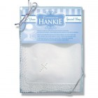 Cotton First Communion Hankie with Pearl Cross