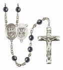 Men's St. George Navy Silver Plated Rosary