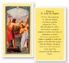 Prayer To St. John The Baptist Laminated Prayer Cards 25 Pack