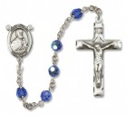 St. Thomas the Apostle Sterling Silver Heirloom Rosary Squared Crucifix
