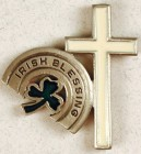 Irish Blessing with Cross Lapel Pin (12 per order)