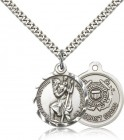 Coast Guard St. Christopher Medal - Nickel Size