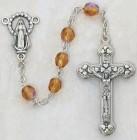November Birthstone Rosary (Topaz) - Silver Oxidized