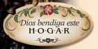 Dios Bendiga Este Hogar Wall Plaque