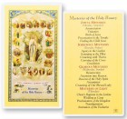 Mysteries of The Rosary Laminated Prayer Cards 25 Pack