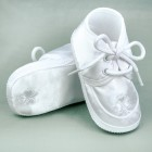 Boy Irish Satin Oxford Baptism Shoes with White Sham