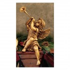 Girl Trumpeting Angel Statue