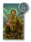 St. Joseph Lapel Pin with Holy Card