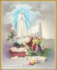 Our Lady of Fatima Gold Framed Print