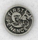 Round First Penance Lapel Pin (12 pieces per order)