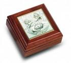 Salerni Sterling Silver & Walnut Baby Keepsake Box