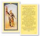 Novena To St. Joan of Arc Laminated Prayer Cards 25 Pack