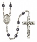 Men's St. Dymphna Silver Plated Rosary