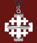 "Stainless Steel Jerusalem Cross Pendant - 1 1/4"" H"