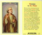 St. Peter Novena Prayer Holy Card