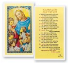 Children Learn What They Live Laminated Prayer Cards 25 Pack