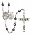 Men's Scapular Silver Plated Rosary