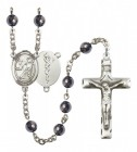 Men's St. Luke the Apostle Doctor Silver Plated Rosary