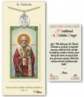 St. Nicholas Medal in Pewter with Prayer Card
