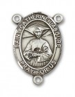 St. Catherine Laboure Rosary Centerpiece Sterling Silver or Pewter