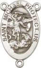 St. Michael Army Sterling Silver Rosary Centerpiece