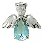 Angel Pin- March Birthstone